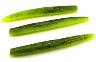 "AGM 3"" Stick Worm - Watermelon/Chartreuse (10pcs)"