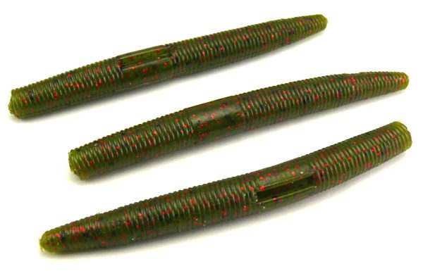 "AGM 3"" Stick Worm - Watermelon/Red Flake (10pcs)"