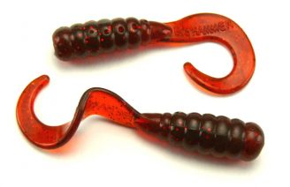 "Big Hammer 1.75"" Perch Grub - Motor Oil Red (25pcs)"