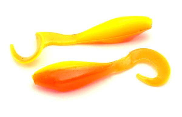 "Bass Assassin 2"" Curly Shad - Candy Corn (10pcs)"