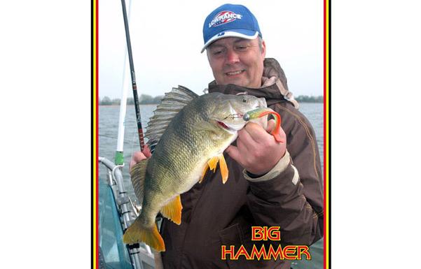 "Big Hammer 5"" Hand Poured Swimbait - Atomic Punk (4pcs)"
