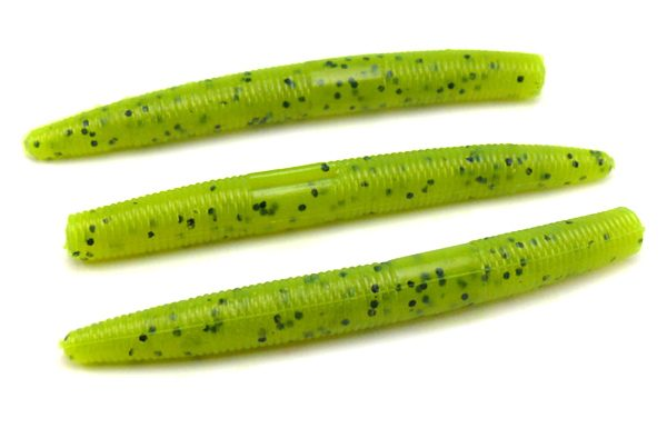 "AGM 3"" Stick Worm - Chartreuse Pepper (10pcs)"