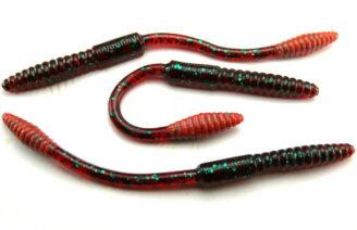 "Big Bite 4.5"" Squirrel Tail Worm - Red Bug (10pcs)"