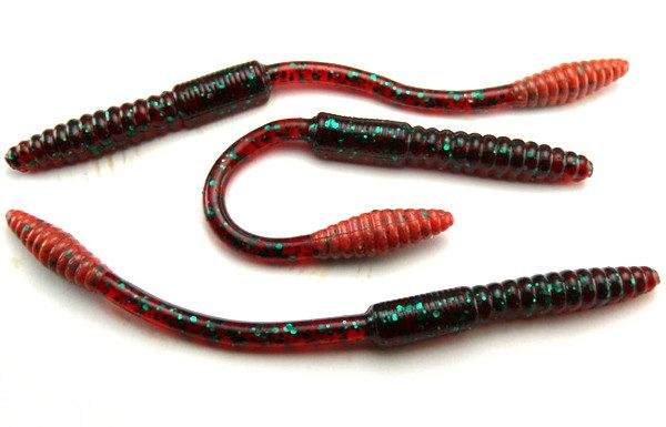 "Big Bite 4.5"" Squirrel Tail Worm - Red Bug (10pcs)"