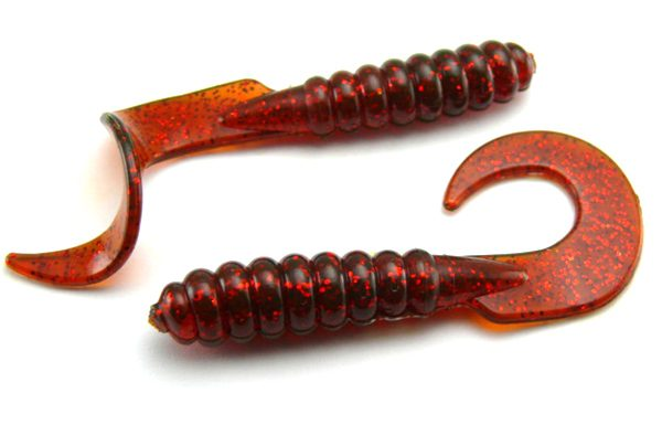 "AGM 3"" Curltail Grub - Motor Oil/Red (10pcs)"