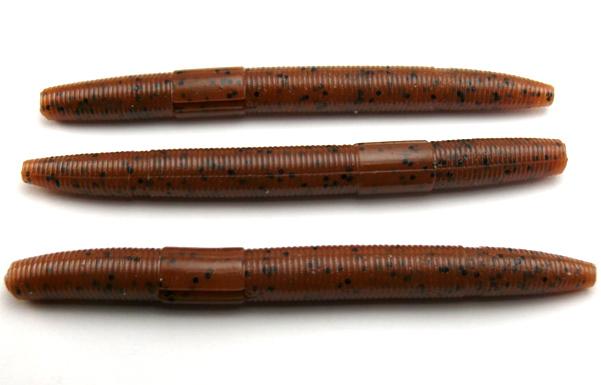 "AGM 4"" Stick Worm - Pumpkinseed (8pcs)"
