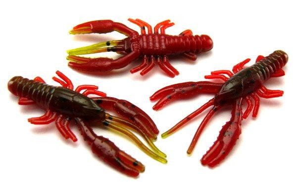 "AGM 1.5"" Micro Crayfish - Green Pumpkin/Red (10pcs)"