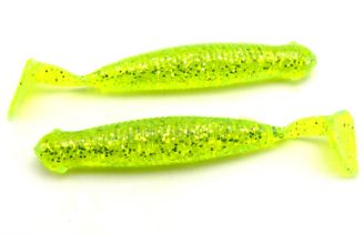 "AGM 2.5"" Paddler Grub - Chartreuse Flash (10pcs)"