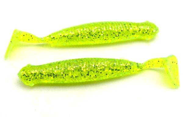 "AGM 2.5"" Paddler Grub - Chartreuse Flash (10pcs)"
