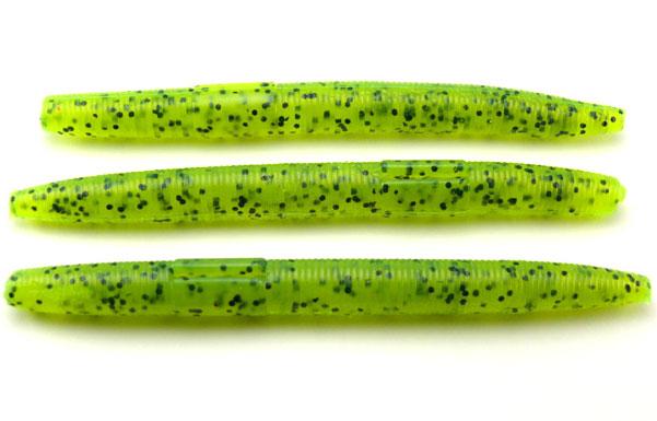 "AGM 4"" Stick Worm - Chartreuse Pepper (8pcs)"