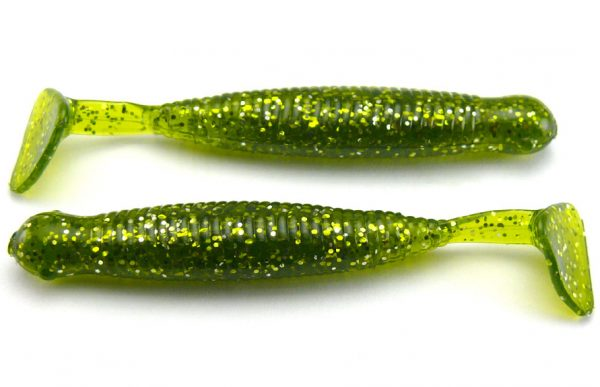 "AGM 2.5"" Paddler Grub - Seaweed/Gold Flake (10pcs)"
