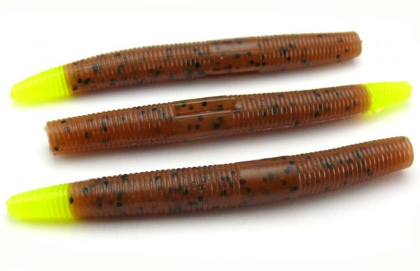 "AGM 3"" Stick Worm - Pumpkinseed/Chartreuse Tip (10pcs)"