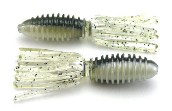 "AGM 1.75"" Skirt Grub - Smoke Shad (10pcs)"