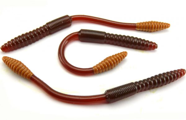 "Big Bite 4.5"" Squirrel Tail Worm - Motor Oil (10pcs)"
