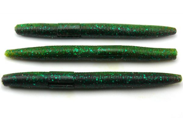 "AGM 4"" Stick Worm - Emerald Sparkle (8pcs)"