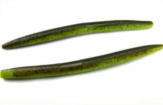 "AGM 7"" Stick Worm - Green Pumpkin/Chartreuse (6pcs)"