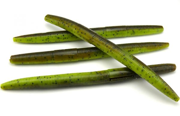 "AGM 5"" Stick Worm - Green Pumpkin/Chartreuse (8pcs)"