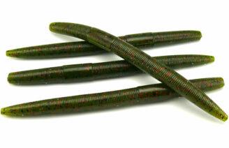 "AGM 5"" Stick Worm - Watermelon/Red Flake (8pcs)"