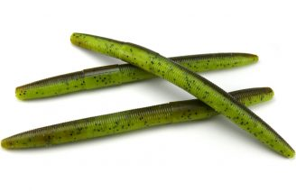 "AGM 6"" Stick Worm - Green Pumpkin/Chartreuse (7pcs)"
