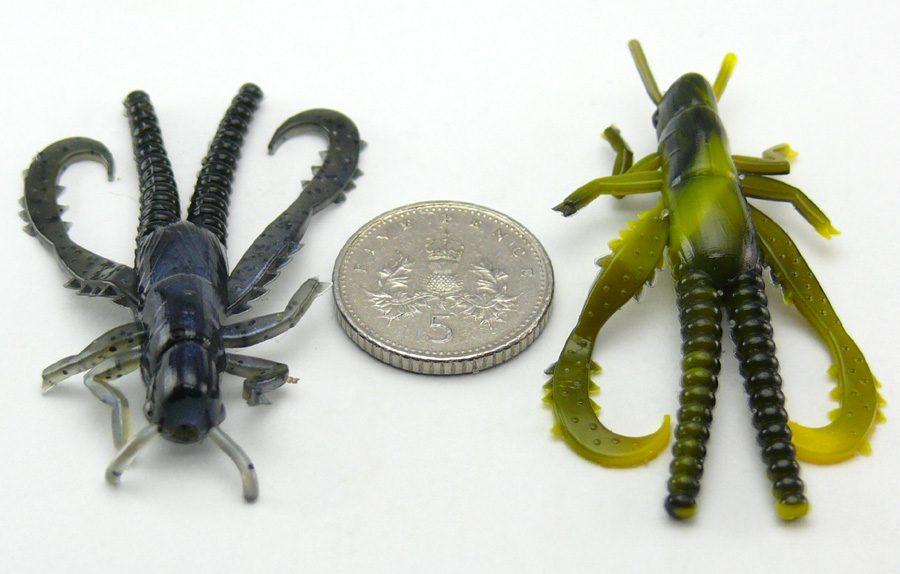 "Big Bite 1.5"" Hopper Bug - Bumble Bee Swirl (8pcs)"