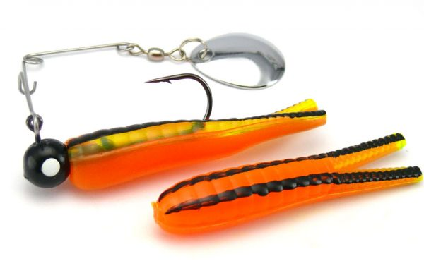 Johnson Beetle Spin 7g - Orange/Chartreuse/Black