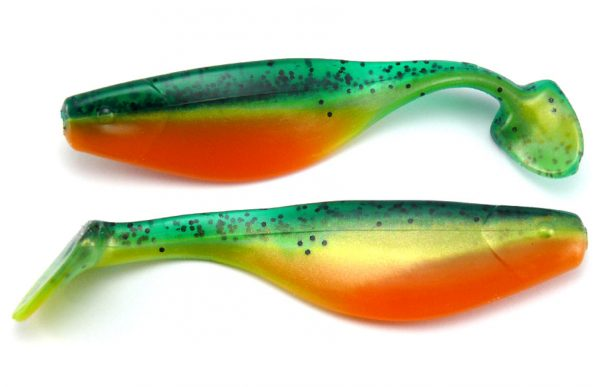 "Big Bite 4"" Shad - Fire Tiger (5pcs)"