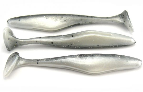 "Big Bite 3.3"" Swimming Jerk Minnow - Smoke Holo/Pearl (10pcs)"