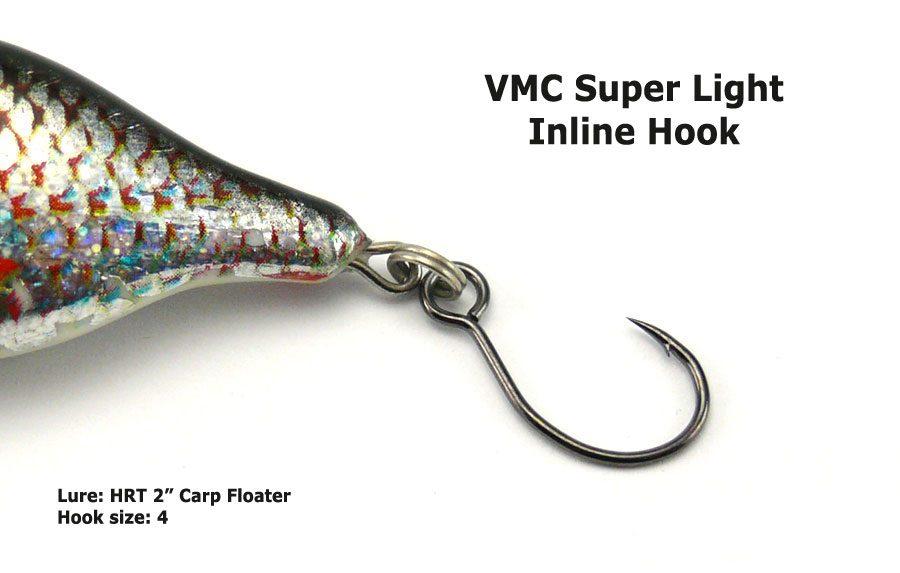 VMC 7237 Super Light Inline Hook - Size 6 (7pcs)