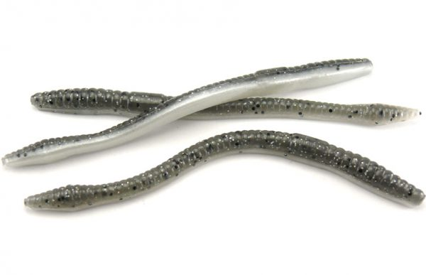 "Wave 4.5"" Tiki Finesse Worm - Laminated Smoke Shad (15pcs)"