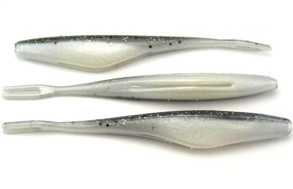 "Big Bite 4"" Jerk Minnow - Smoke Holo/Pearl Belly (10pcs)"