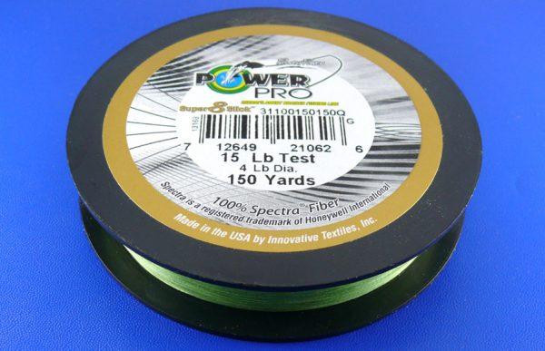 PowerPro Super 8 Slick braid 15lb (150yds) - Aqua Green