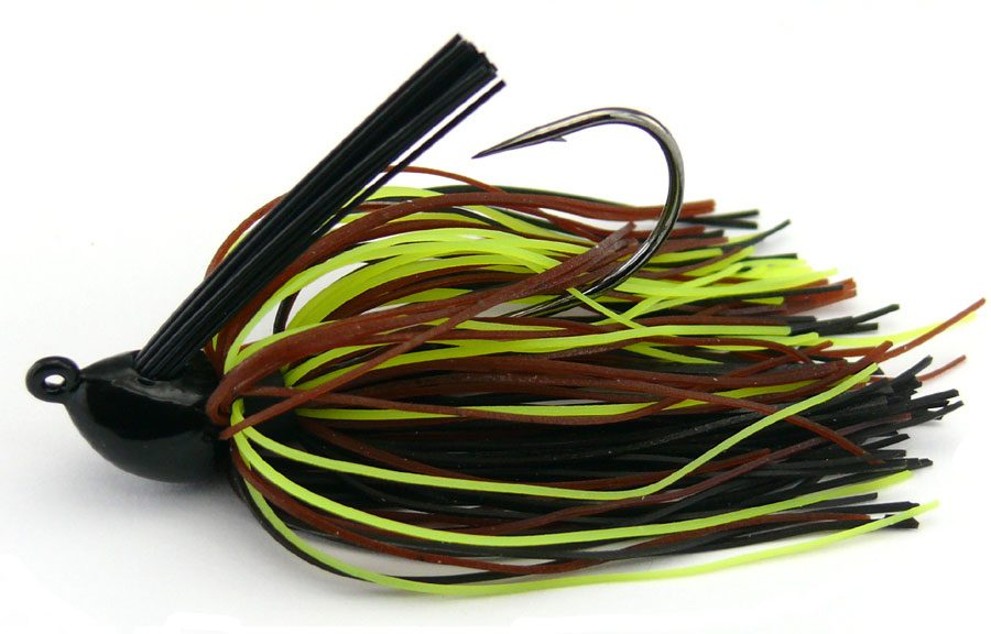 Booyah Baby Boo Weedless Jig 9g - Black/Brown/Chartreuse