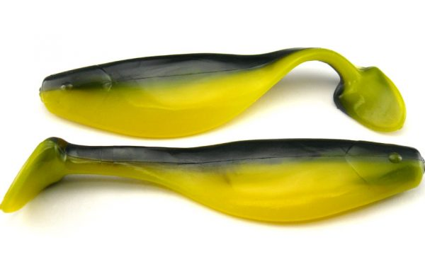 "Big Bite 4"" Shad - Black/Yellow (5pcs)"
