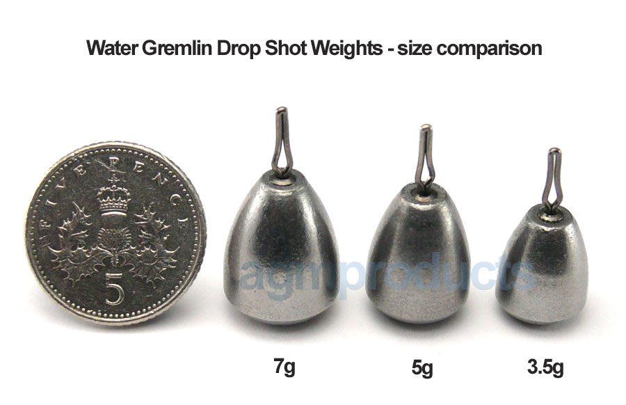 Water Gremlin Steel Drop Shot Weight 7g (3pcs)