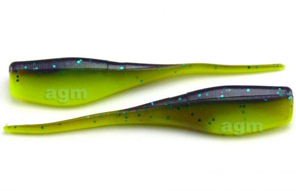 """Big Bite 2"""" Crappie Minnr - Junebug/Chartreuse (10pcs)"""