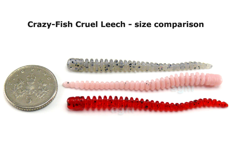 "Crazy Fish 2"" Cruel Leech - 50 Pink Flamingo (8pcs)"