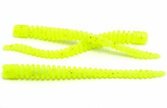 """Crazy Fish 2"""" Cruel Leech - 6 Chartreuse (8pcs)"""