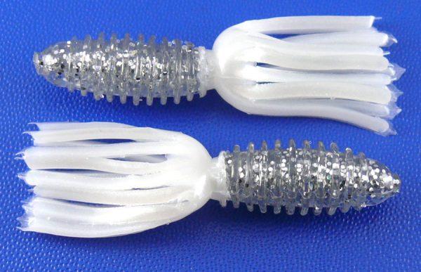 "AGM 1.75"" Skirt Grub - Silver Flash/Pearl (10pcs)"