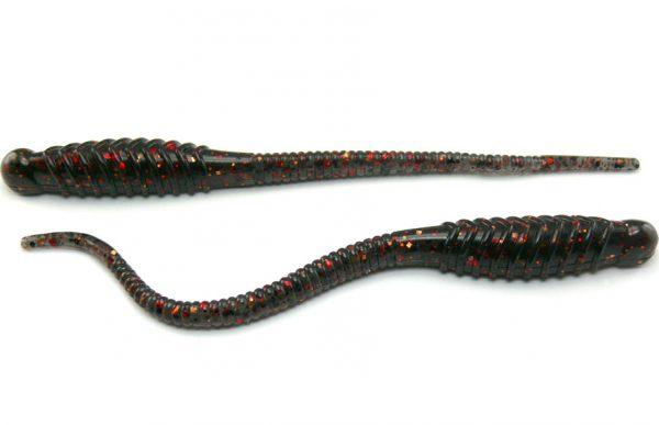 """Assalt 5"""" Salt Shaker Worm - Smoke/Red/Copper (10pcs)"""