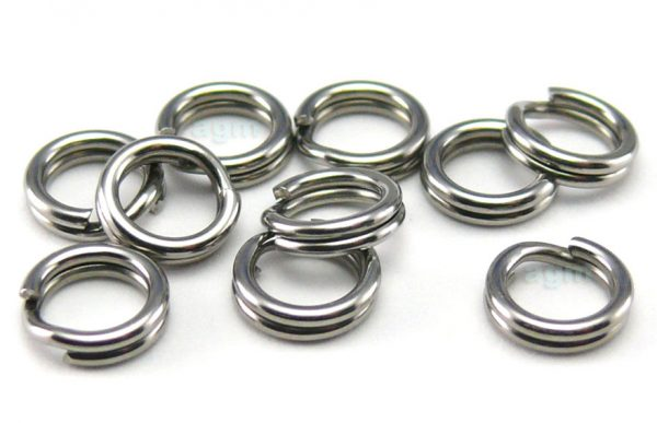 AGM Stainless Steel Split Ring 4.4mm/40lb (10pcs)