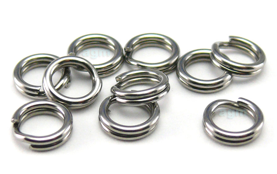 AGM Stainless Steel Split Ring 4.4mm/40lb (10pcs)