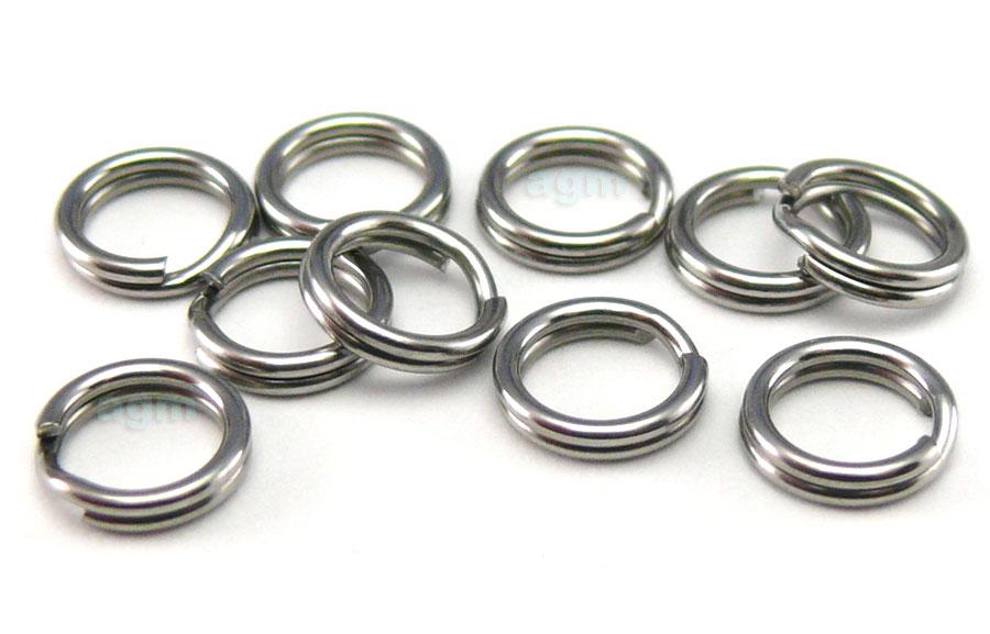 AGM Stainless Steel Split Ring 5.4mm/40lb (10pcs)