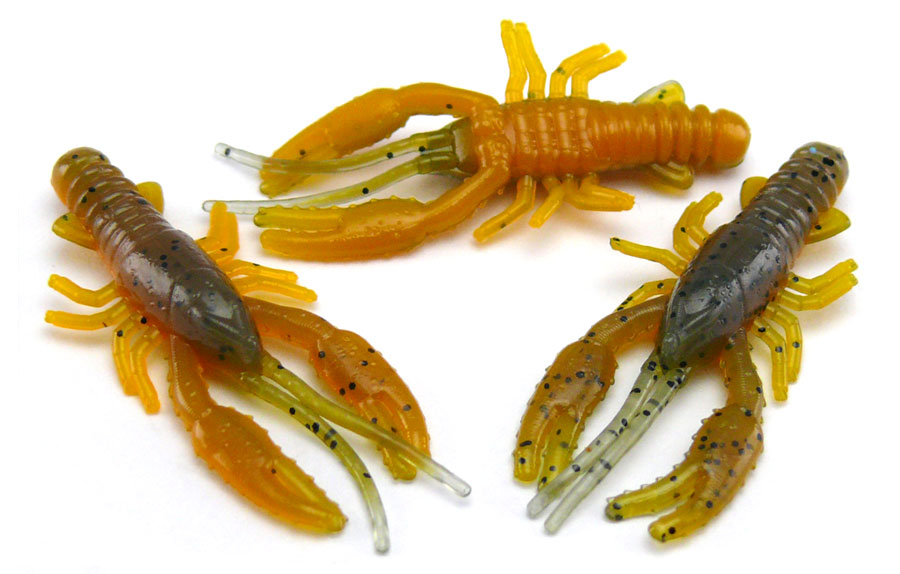"AGM 1.5"" Micro Crayfish - Smokey Craw (10pcs)"