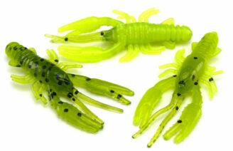 "AGM 1.5"" Micro Crayfish - Watermelon/Chartreuse (10pcs)"