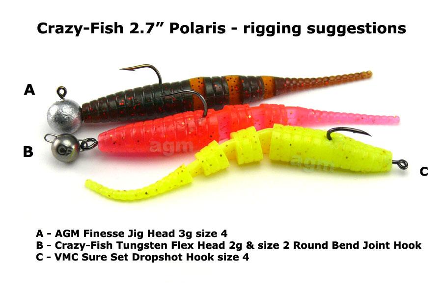 """Crazy Fish 2.7"""" Polaris - 64 Fluo Orange (8pcs)"""