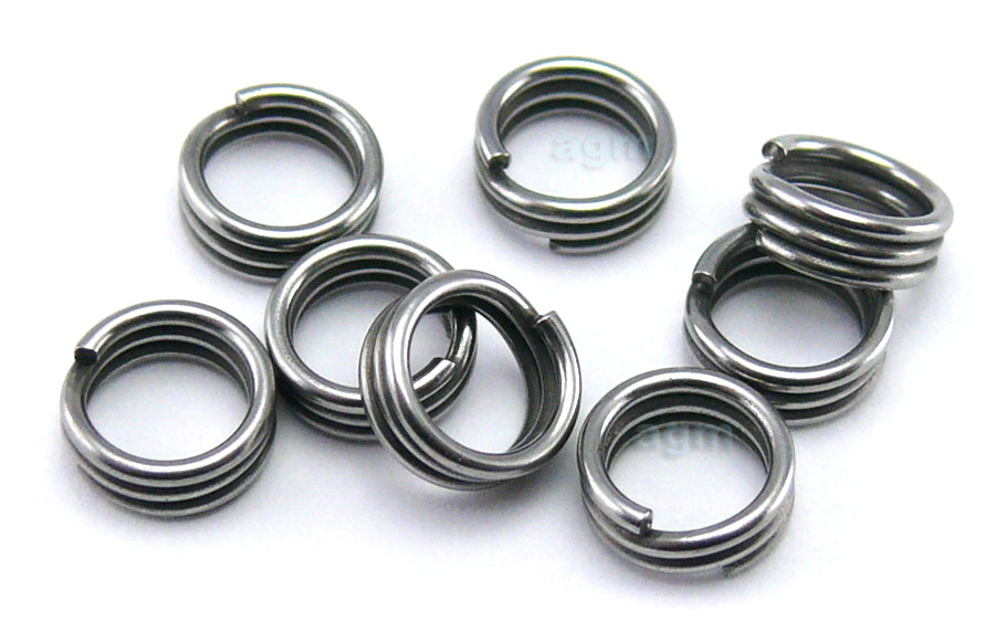 AGM Extra Strong Stainless Split Ring 5.3mm/120lb (8pcs)