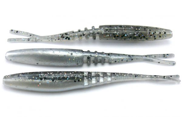 "Big Bite 3.75"" Jointed Jerk Minnow - Smoke Holo/Pearl (10pcs)"