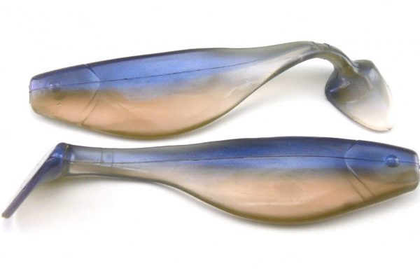 "Big Bite 4"" Shad - Natural Pro Blue (5pcs)"