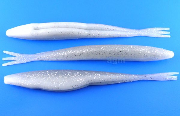 "Big Bite 5"" Triple Tail Jerk Minnow - White Ice (10pcs)"
