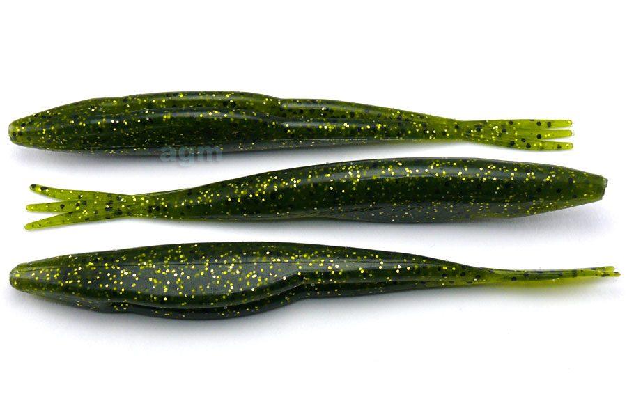 """Big Bite 5"""" Triple Tail Jerk Minnow - Watermelon Gold (10pcs)"""